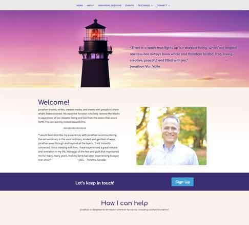 Holistic Transformational Life Coach Website
