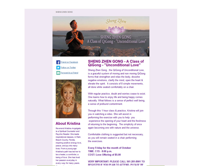 Email Newsletter Design for Feel Believe Create