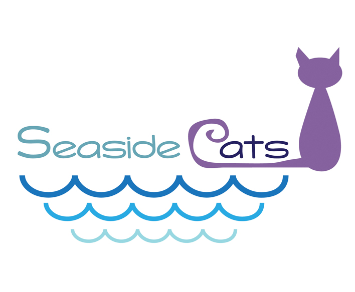 Seaside Cats - Cat Logo Design