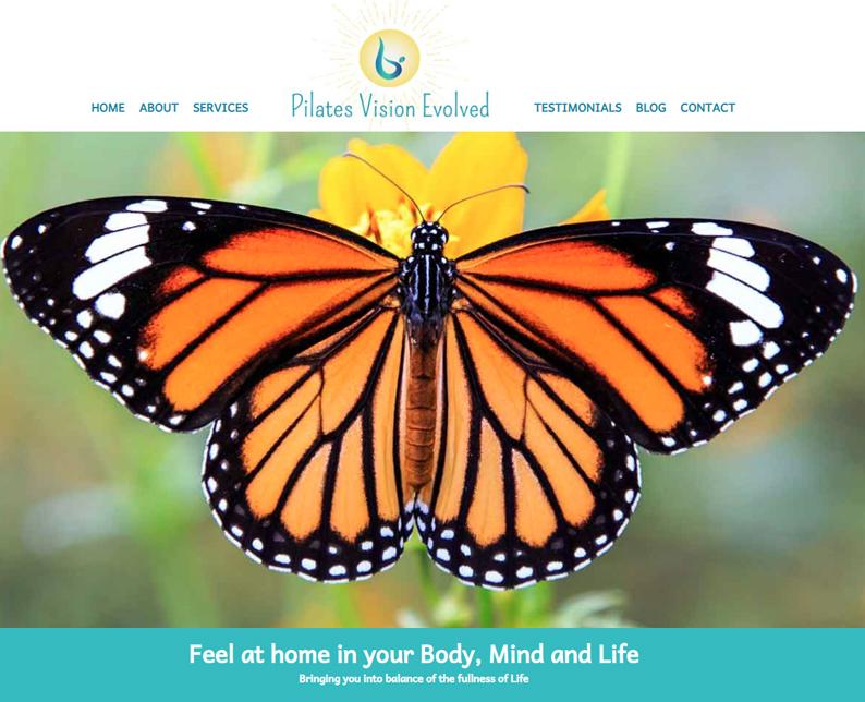 Pilates Web Design, Personal Trainer Website Design
