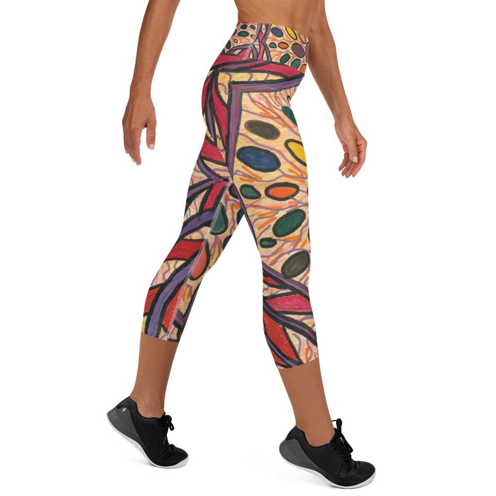 Jellybean Mandala Yoga Capri Leggings